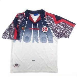 Umbro Norway soccer jersey shirt Norge men's Sz L